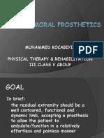 Trans Femoral Prosthetics