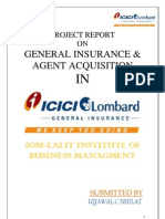 ICICI Lombard Project Report