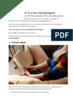 16 Lucruri Care Te Fac Mai Inteligent