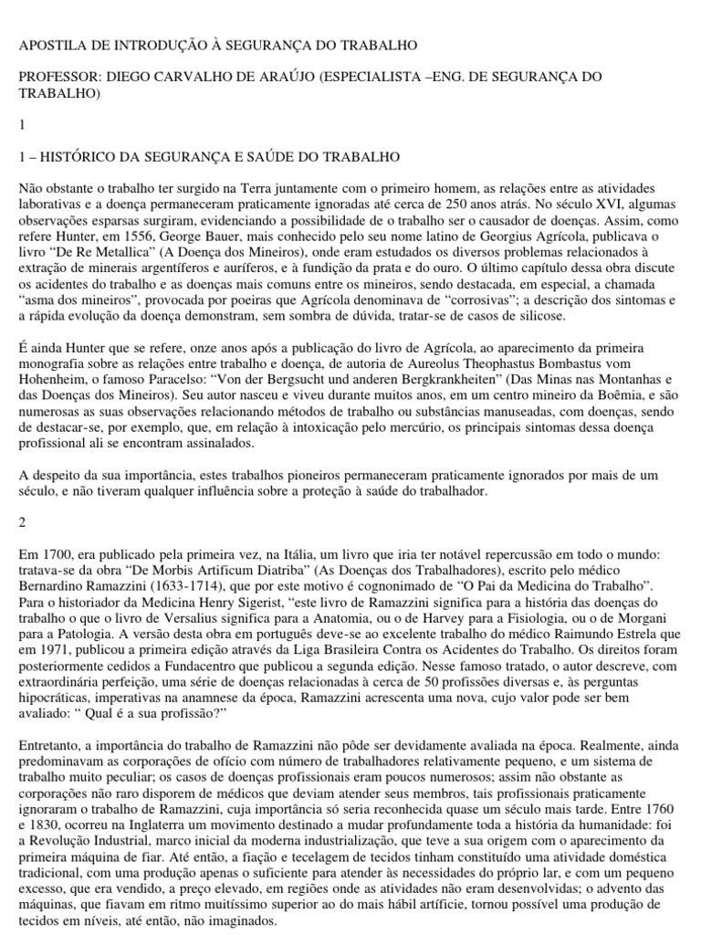 APOSTILA DE INTRODUÇÃO A SEGURANÇA DO TRABALHO.pdf 15209e85a5