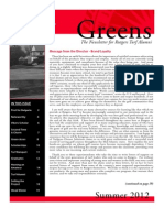 Rutgers Golf Course Turf Management Program – 2012 Alumni Newsletter