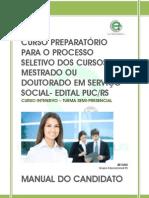 Manual - Curso Preparatório para o Processo Seletivo do Mestrado e Doutorado