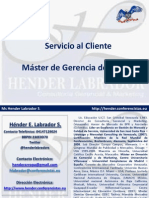 ServicioAlClienteMasterGerenciaDeVentas