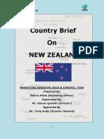 Tdap Report on New Zealand