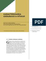 Corbi de Piatra - Studiu Interdisciplinar - Caracterizarea geologica a sitului (Cap. 2)