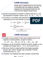 Lecture 4 - CAPM Proof