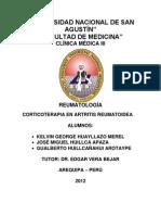 Informe Corticoterapia en Artritis Reumatoidea