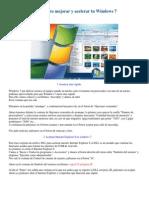 Trucos Para Mejorar y Acelerar Tu Windows 7