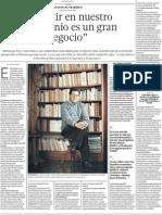 Entrevista a Elias Mujica Invertir en Patrimonio es negocio