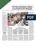 250 empresarios chinos invertirian en Peru