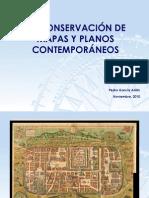 LA CONSERVACION DE MAPAS Y PLANOS CONTEMPORÁNEOS