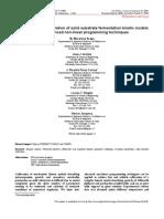 Parameter Estimation Kinetics
