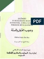 Duznost Raditi Sunnetom - Abdul Aziz Ibn Baz