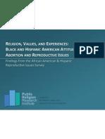 Reproductive Values Survey Presentation 2012