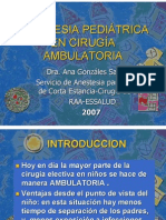19 Anestesia Ambulatoria en Pediatria