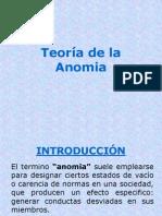 Teoria de La Anomia