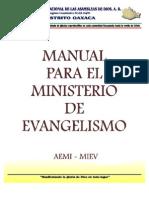 MANUAL Para El Ministerio de Evangelismo