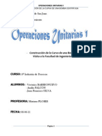 Informe Operaciones Unitarias I - Curva de La Bomba