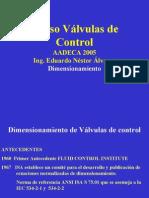 Dimensionamiento Valvulas de Control