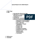 Project Proposal Model