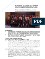 Report of the 6th Meeting of the National Focal Point for Asean Cocoa Club