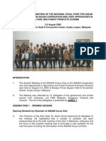 Report of the 7th Meeting on the National Focal Point for Asean Cocoa Club