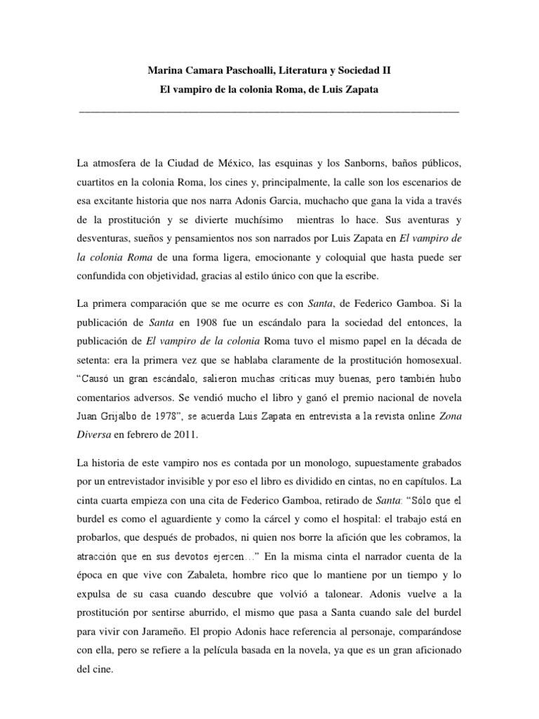 descargar el vampiro de la colonia roma pdf