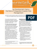 Protecting Development Gains—the Role of Integrated Disaster Risk Management