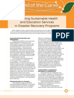 Providing Sustainable Healthand Education Services in Disaster Recovery Programs