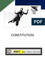 Constitution of All india Advani Memorial Basketball tournament (AIAMBT)