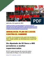 Noticias Uruguayas miércoles 8 de agosto del 2012