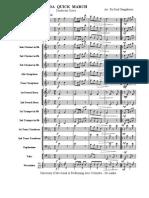 Aida Quick March. Conductor Score