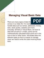Managing Visual Basic Data