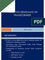 Insulation Resistance of power transformer