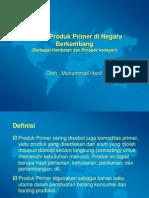 Ekspor Produk Primer di Negara Berkembang (Berbagai Hambatan dan Prospek kedepan)