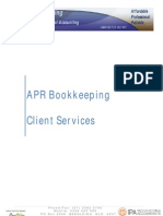 Aprbookkeeping Services Client Information