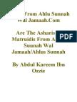 Are The Asharis & Matruidis From Ahlus Suunah Wal Jamaah/Ahlus Sunnah