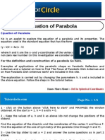 Equation of Parabola
