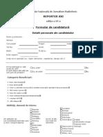 Formular Aplicatie Reporter 2012