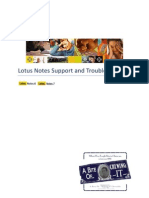 Lotus Notes Support and Troubleshooting