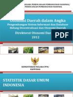 Otonomi Daerah Dalam Angka 2012