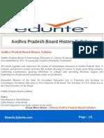 Andhra Pradesh Board History Syllabus