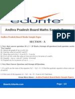 Andhra Pradesh Board Maths Sample Paper