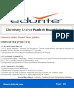 Chemistry Andhra Pradesh Board Syllabus