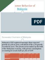 Consumer Behavior of Malaysia