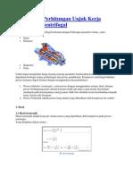 Teori Dasar Perhitungan Unjuk Kerja Kompresor Sentrifugal