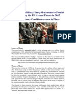 Startling Essay Predicts a US Military Coup in 2012