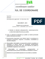Registru de Coordonare Santier