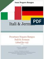 Peyatuan Negara Bangsa (Jerman Dan Itali)