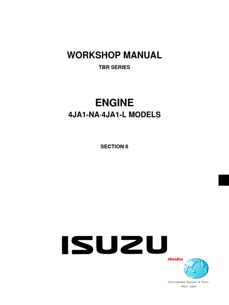 Isuzu 4ja1 workshop manual free download fandeluxe Images